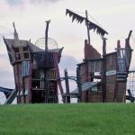 Piratenspielplatz auf der Leuchtturmwiese