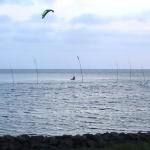 Kitesurfer im Nationalpark
